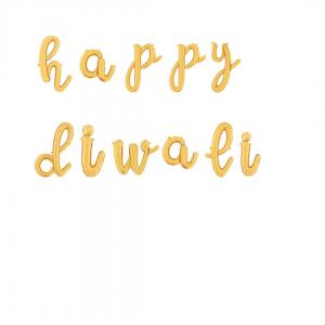diwali gold foil banner