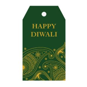 diwali gits tag green