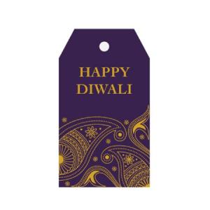 diwali gits tag purple